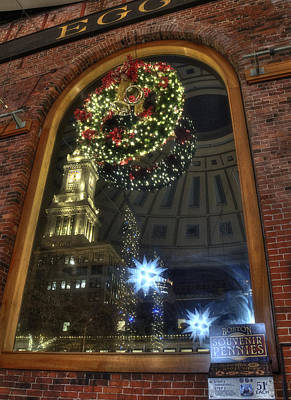 Boston Photograph - Inside Quincy Market - Boston Ma by Joann Vitali