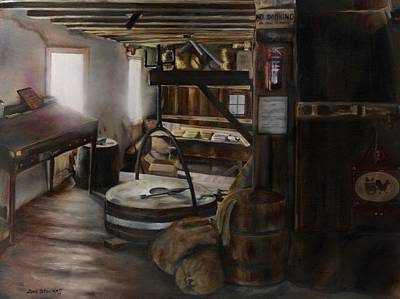 Inside The Flour Mill Print by Lori Brackett