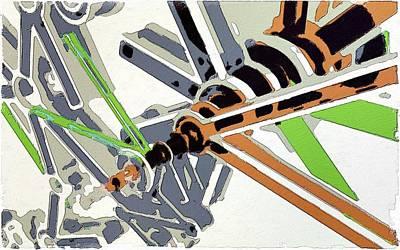 Gears Painting - Inside The Mechanism by Florian Rodarte