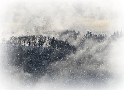 Inside The Snowglobe Print by Katie Wing Vigil