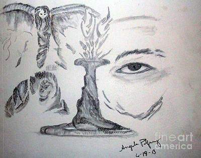 Eyes Drawing - Insight by Angela Pelfrey