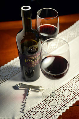 Wine Photograph - Insignia For Two by Jon Neidert