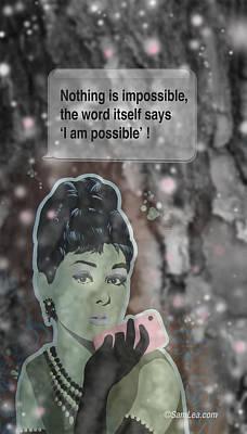 Audrey Hepburn Mixed Media - Inspirational Audrey by Sam Lea