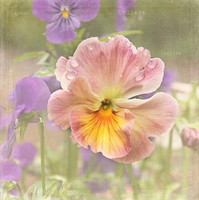 Garden Flowers Photograph - Inspire - Believe - Dream by Kim Hojnacki