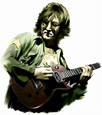 Musicians Drawing - Instant Karma  John Lennon by Iconic Images Art Gallery David Pucciarelli