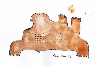 Primitive Drawing - Instar No.2 by Mark M  Mellon