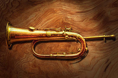 Music Photograph - Instrument - Horn - Reveille And Rouse by Mike Savad