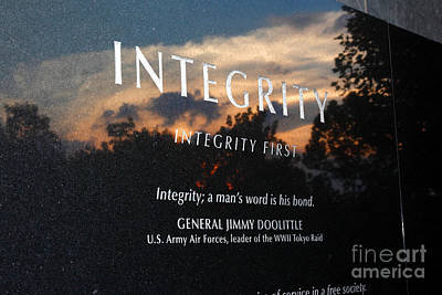 Integrity A Mans Word Is His Bond Print by James Brunker