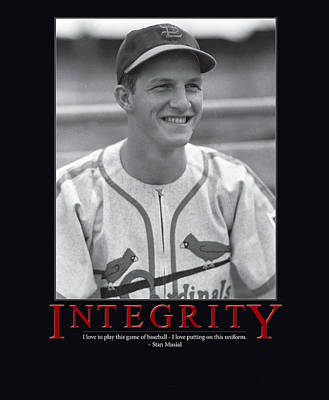 Batting Photograph - Integrity Stan Musial by Retro Images Archive
