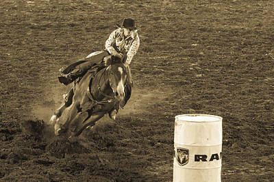 Barrel Racing Photograph - Intent by Caitlyn  Grasso