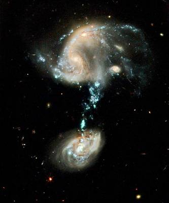 Merging Photograph - Interacting Galaxies Arp 194 by Nasa/esa/hubble Heritage Team (stsci/aura)