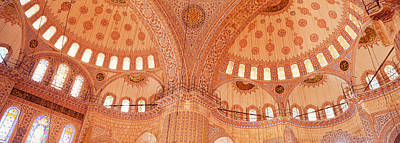 Midday Photograph - Interior, Blue Mosque, Istanbul, Turkey by Panoramic Images