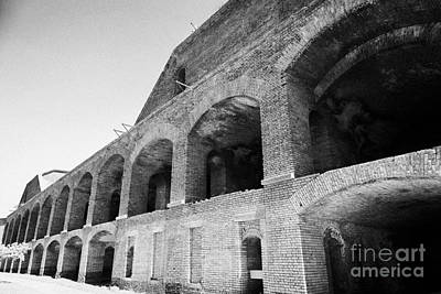 Interior Brick Walls Of Fort Jefferson Dry Tortugas National Park Florida Keys Usa Print by Joe Fox