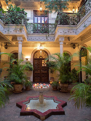 Interior Courtyard Of Villa Des Print by Panoramic Images