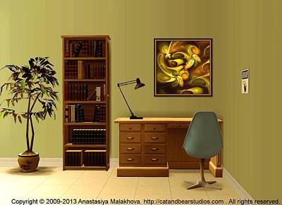 Point Digital Art - Interior Design Idea - Avocado Fantasy by Anastasiya Malakhova