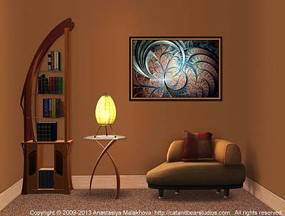 Point Digital Art - Interior Design Idea - Metal Forest by Anastasiya Malakhova