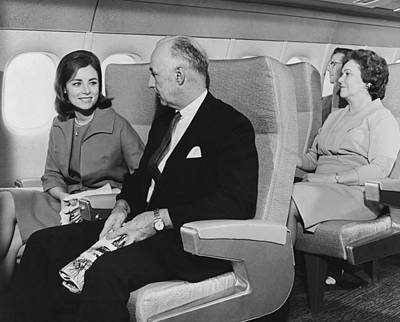 Airlines Photograph - Interior Mockup Of A Dc-9 by Underwood Archives