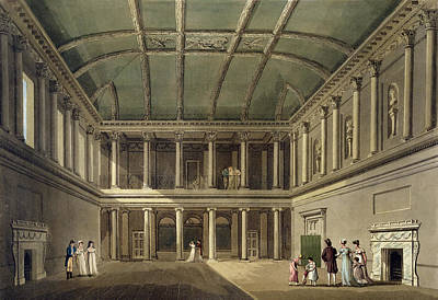 Interior Of Concert Room, From Bath Print by John Claude Nattes