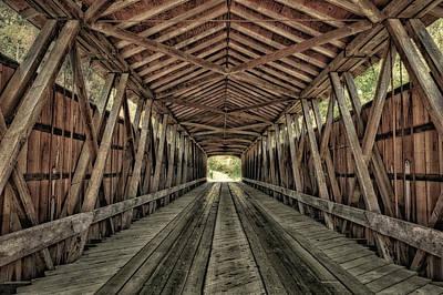 Indiana Photograph - Interior Of Covered Bridge, Indiana, Usa by Rona Schwarz