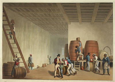 Interior Of Distillery Print by British Library