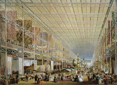 Interior Of The Great Exhibition Of All Print by Edmund Walker