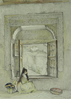 Orientalists Drawing - Interior Of The Palace At Madura by Thomas Daniell