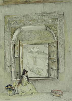 Stare Drawing - Interior Of The Palace At Madura by Thomas Daniell
