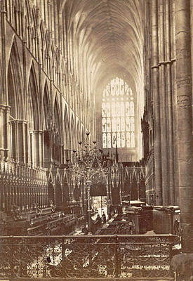 Westminster Abbey Drawing - Interior Of Westminster Abbey In London Uk by Artokoloro