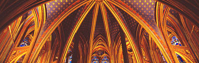 Vaults Photograph - Interior, Sainte Chapelle, Paris, France by Panoramic Images