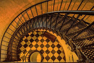 Spiral Photograph - Interior Spiral Staircase Of St by Rona Schwarz