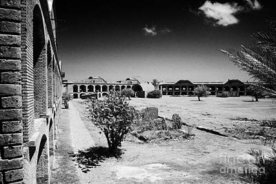 Interior Walls And Courtyard Of Fort Jefferson Dry Tortugas National Park Florida Keys Usa Print by Joe Fox
