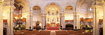 Berlin Photograph - Interiors Of A Cathedral, Berlin by Panoramic Images