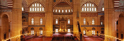 Mosaic Photograph - Interiors Of A Mosque, Selimiye Mosque by Panoramic Images