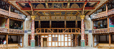 Stage Theater Photograph - Interiors Of A Stage Theater, Globe by Panoramic Images