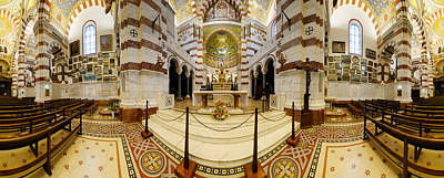 Byzantine Photograph - Interiors Of The Basilica, Notre Dame by Panoramic Images