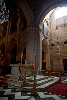 Interiors Of The Church Of St Print by Panoramic Images