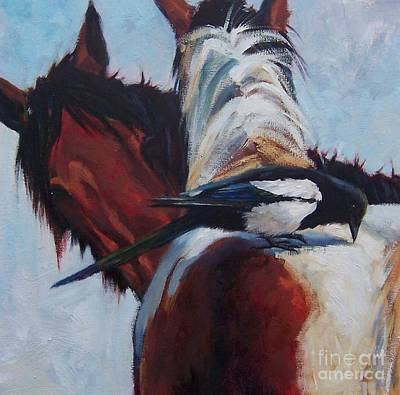 Pinto Painting - Interloper by Susan Bell