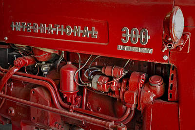 Land Photograph - International 300 Utility Harvester by Susan Candelario