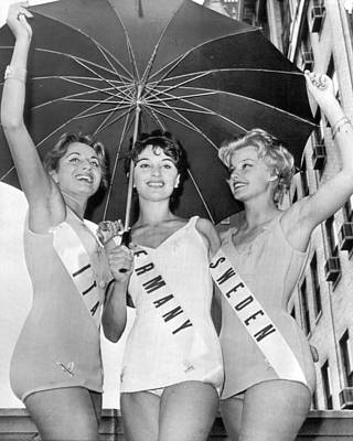 International Lovely Ladies In Miss Universe Contest Print by Retro Images Archive