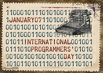International Programmers' Day January 7 Print by Carol Leigh