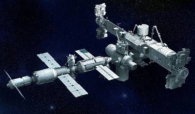 International Space Station Print by Claus Lunau