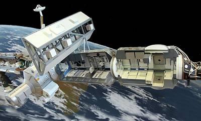 International Space Station Print by Detlev Van Ravenswaay