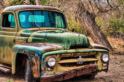 Grill Gate Photograph - International Truck Yard Art by Steven Bateson