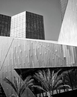 Aria Photograph - Intersection 2 Bw Las Vegas by William Dey