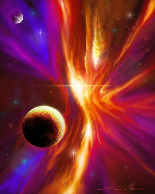Stellar Painting - Intersteller Supernova by James Christopher Hill