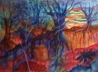 Intertwined Creation Print by Ellen Levinson