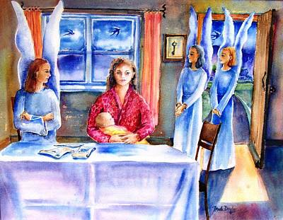 Interview For A Guardian Angel  Print by Trudi Doyle