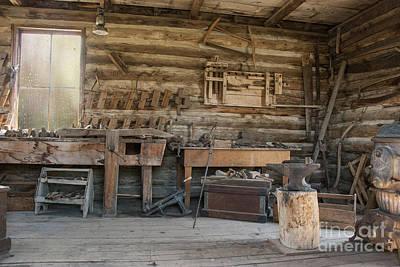 Interior Of Historic Pioneer Cabin Print by Juli Scalzi