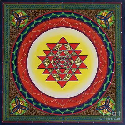 Sri Yantra Painting - Into The Eye Of The Needle by Jennifer Kline