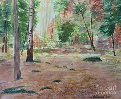 Forest Floor Painting - Into The Forest by Martin Howard